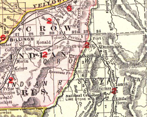 Crow Reservation Montana Map.Crow Northern Cheyenne Reservation